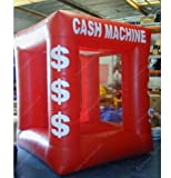 gr-tech strumento® vendita calda colore: rosso gonfiabile denaro in contanti cubo cabina denaro per la vendita con soffianti 220V o 110V