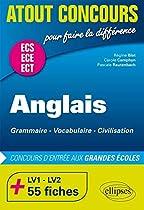 Anglais Concours d'Entrée aux Grandes Écoles de Commerce ECE ECS +75 Fiches