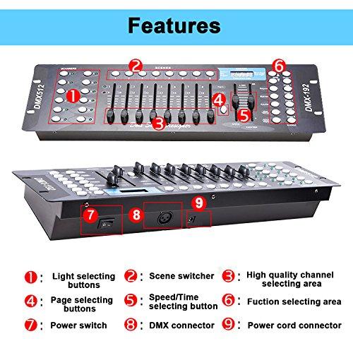 Aocno 192 Kanäle Dmx 512 Steuerpult,lichtsteuerung,dmx