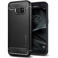 Cover Samsung Galaxy S7, Spigen® [Rugged Armor] Impressionante Black [Design Meccanica Durevole] Massima Protezione Da Cadute e Urti - Custodia Samsung Galaxy S7, Custodia Galaxy S7, Cover Galaxy S7, Cover Samsung S7 (555CS20007)