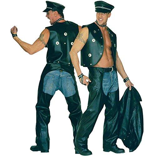 s Rocker / Motorradfahrer, aus Kunstleder (Biker-halloween-kostüme)