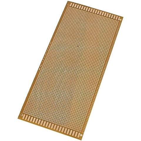PCB Placa - TOOGOO(R)Placa de rejilla agujero, 10 x 22 cm, color cobre, 2 pzs