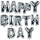 Pixnor Argent HAPPY BIRTHDAY ballons lettres