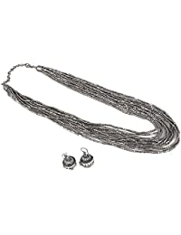 Aradhya Oxidized Silver Chain Necklace For Women & Girl