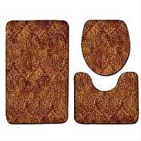 TKWL Bath mat European Bath Mat 3pcs / Set Of Decorative Toilet Mat Accessories Bathroom Carpet Set Bathroom High-end Home Decoration Floor Blanket. 50x80 40x50 35x45 10
