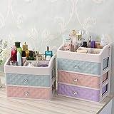Kurphy Aufbewahrungsbox, dauerhafte Schmuckschatulle handgemachtes Make-up Aufbewahrungskoffer große kosmetische Halter bilden Veranstalter tragbare kosmetische Box