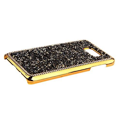 iPhone 5C Custodia, iPhone 5C Cover, iPhone 5C Case, Felfy 3D Dura Lusso Sparkly Bling Cristal Brillantini Diamanti Rhinestones Rosa Protettiva Back Custodia Case Cover per Apple iPhone 5C, 1x Protezi Dorato
