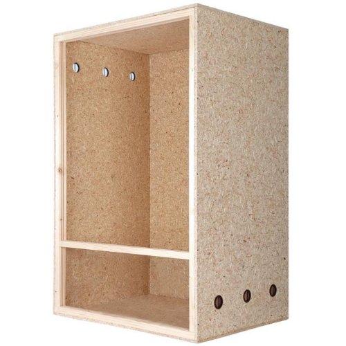 Repiterra® Hoch-Terrarium aus Holz 60cmx120cmx60cm mit Seitenbelüftung aus OSB Platten mit Floatglas - 2
