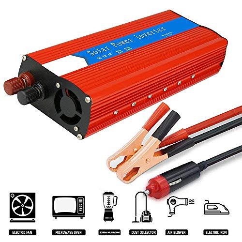 NBQABN 3000 W(Picco 6000W) Invertitore di Potenza, convertitore DC 12 V/ 24Va V AC 110V/230 V Power Inverter, Convertitore Auto/Batteria/Solar Power con Prese CA e Porte USB,12vTo230v