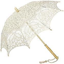 """Parasol novia, modelo """"Vivienne"""", color crema"""