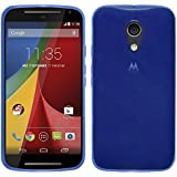 TBOC® Funda de Gel TPU Azul para Motorola Moto G2 de Silicona Ultrafina y Flexible