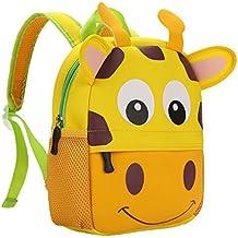 Mochila Teamen para niños con animal. Mochila escolar para niños de 2 a 6 años de edad, jirafa