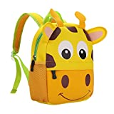 TEAMEN Kinderrucksack Animal Schule Tasche Rucksack for Kinder Baby Jungen Mädchen Kleinkind 2-6 Alter (Giraffe)