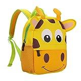 teamen Zaino per bambini Animal Scuola Borsa Zaino per bambini bambino ragazzi ragazze bambino 2–6età, giraffa