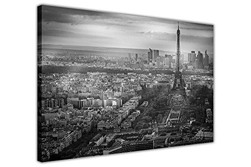 black-and-white-photo-of-paris-france-skyline-su-stampe-home-decor-wall-art-city-foto-incorniciata-b