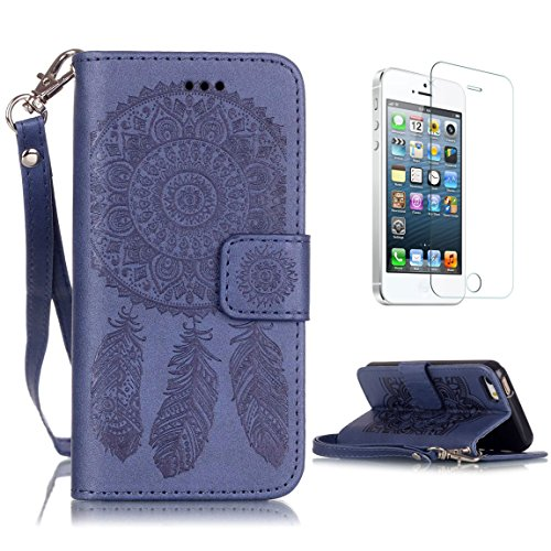 iphone-se-5s-5-case-with-free-screen-protectorcasehome-dreamcatcher-mandala-flower-embossed-design-b