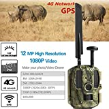 Jackeylove Wildlife Trail Camera 12MP 1080P IP66 Wasserproof Infrared Night Vision Activated Wild Hunting Game Cam 120 ° Detection Range Speed