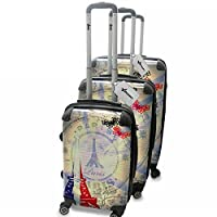 Virano Hand Luggage , Viaje Paris 5 (Silver) - SO-LUG1-SILV-SET-VOY-PAR5