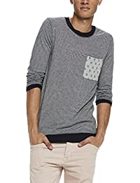 Scotch & Soda Classic Crewneck Pullover In Soft Cotton Quality with Chest, Pull Homme