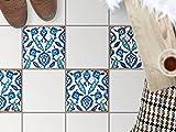 creatisto Bodenfliesenmuster Deko-Folie   Fliesen-Folie Sticker Aufkleber Selbstklebend Badezimmer renovieren Küche Dekoration Küche   32,5x32, Muster Ornament Hamam-Vibes - 4 Stück