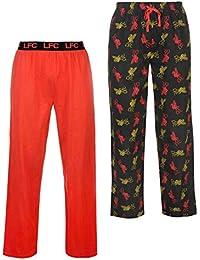 Liverpool F.C. Bas de pyjama pour homme Motif football Rouge
