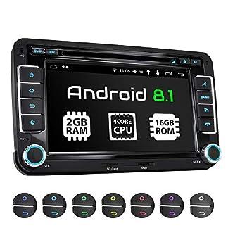 XOMAX-XM-10GA-Autoradio-mit-Android-81-passend-fr-VW-SEAT-Skoda-4Core-2GB-RAM-16GB-ROM-GPS-Navigation-DVD-CD-USB-SD-I-Support-WiFi-4G-DAB-OBD2-I-Bluetooth-I-7-Zoll-18-cm-Touchscreen