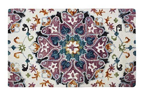 Arts of India Handgefertigt Teppich Mehrfarbig Hand getuftet Wolle Indisch Zeitgenössisch 70x110 cm - Hand Getuftet Teppiche