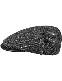 Lierys Fischgrät Tweed Flatcap Schirmmütze für Herren Schirmmütze Schiebermütze Wintercap mit Schirm, mit Futter Herbst Winter