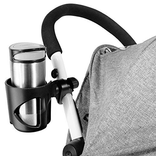 Rovtop porta biberon + gancio per passeggino, per posizionare biberon o bottiglie, gancio universale per passeggiino usati per appendere borse passeggino/borse della spesa