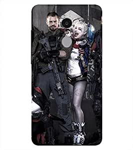 Harley Quinn Printed Back Cover for Redmi note 4