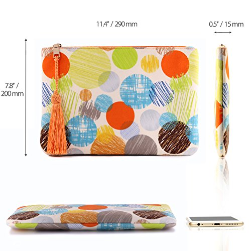 Colorful Clutch with Wristlet Strap, Zippered Closure - Unisex Kreismuster