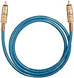 Oehlbach NF 113 DI 100 | Digitales Audio-Cinchkabel | Hochwertiges S/PDIF Koaxialkabel, Mehrfach Schirmung, 75 Ohm | 1 m - blau