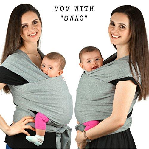 Babytragetuch aus Baumwolle in Premium Qualität | Mehrere Tragepositionen mit diesem weichem und leichtem Tragetuch von Geburt an - 5