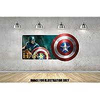 Captain America Superheld Logo personalisierte Namen Wandtattoo Kinder Jungen Mädchen Wand Aufkleber Wand Kunst Transfer Aufkleber
