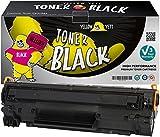 Yellow Yeti Toner kompatibel für HP Laserjet Pro P1100 P1102 P1102w M1212nf M1213nf M1217nfw M1132 MFP Canon i-SENSYS LBP-6000 LBP-6018 LBP-6020 LBP-6020B MF-3010 [3 Jahre Garantie]