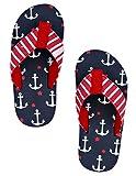 Hatley LBH Kids Flip Flops-Boy Anchors, Chaussures de Plage & Piscine Gar&ccedilons, (Bleu), S