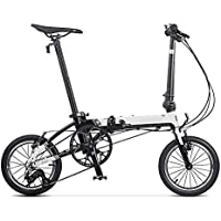 XMIMI Rueda de Bicicleta Plegable Urban Commuter Version Hombres y Mujeres Bicicleta 14 Pulgadas 3 velocidades