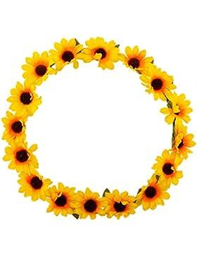 LUX Zubehör Sonnenblume Blumen gelb Head Hair Krone