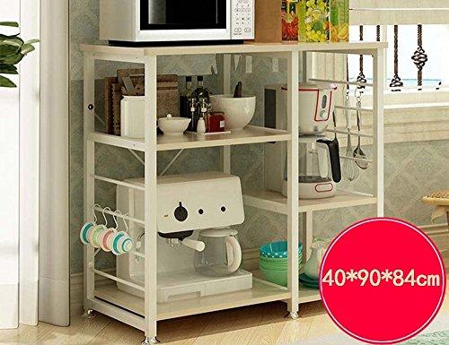 GRY Küchenregal Mikrowelle Küche Elektrische Regal Umwelt Lagerung Lagerregal,Gelbe Eiche -