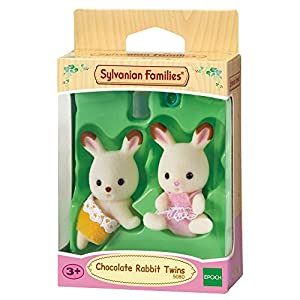 Sylvanian Families- Chocolate Rabbit Twins Mini muñecas y Accesorios, Multicolor (Epoch para Imaginar 5080)