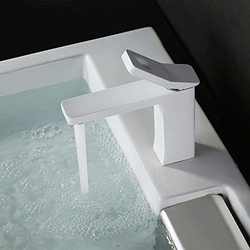 Homelody – Design-Waschbeckenarmatur, Einhebelmischer, ohne Ablaufgarnitur, Weiß - 9