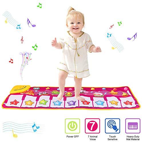 PROACC Klavier Playmat, Kinder Klaviertastatur Musik Playmat Spielzeug, große Größe (39 * 14 Zoll) lustige Tanzmatte für Babys Kleinkind Jungen und Mädchen Geschenk (Kleinkind-klavier)