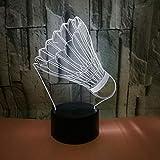 Cool Voiture décapotable 3D Télécommande Lampe 7 Changement de couleur LED Night Light 3D Illusion Lampe Lumière Chambre Éclairage pour Enfants Jouet Cadeau