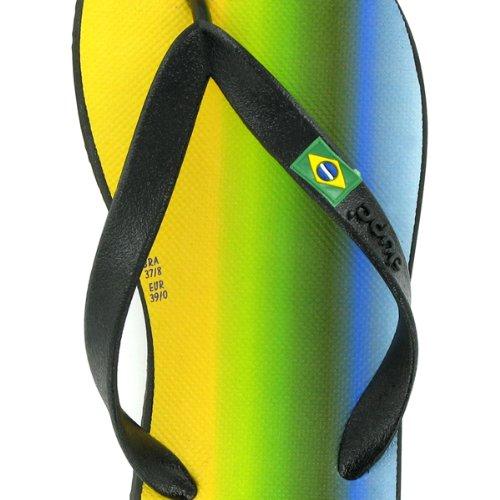 Dupé Brasil Moderna in blau oder schwarz, Dupe Zehentrenner, Topqualität, Gummi, SALE! Dupe Schwarz