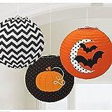 Set di 3 lanterne per Halloween, 24 cm