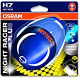 OSRAM NIGHT RACER PLUS H7 headlamp bulb 64210NRP-01B 90% more light in single blister - discontinued by manufacturer