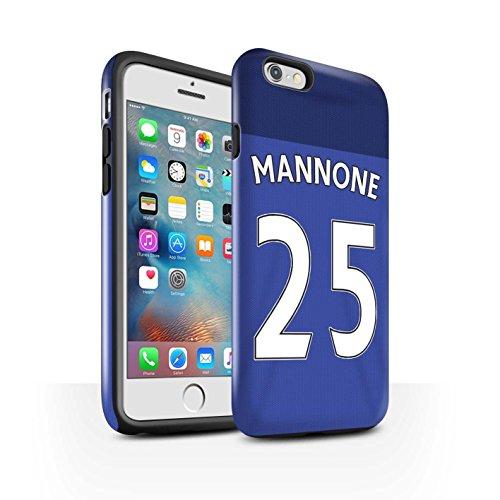 Officiel Sunderland AFC Coque / Brillant Robuste Antichoc Etui pour Apple iPhone 6+/Plus 5.5 / Lens Design / SAFC Maillot Domicile 15/16 Collection Mannone