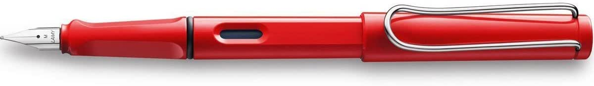 LAMY safari Füllhalter 016 – Moderner Füller in der Farbe Rot mit ergonomischem Griff und zeitlosem Design – Federstärke F
