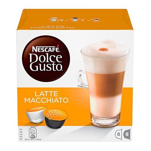 Nescafe Dolce Gusto Latte Macchiato (Pack of 6)–96Capsules)