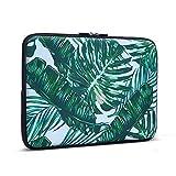 iCasso 11-13.3 Laptop Sleeve Palm Leaf Pattern Nylon Protecteur Cover Imperméable étui Housse pour MacBook Air, MacBook Pro, Tablet PC, Ultrabook, 11-13,3 Pouces Ordinateur Portable...